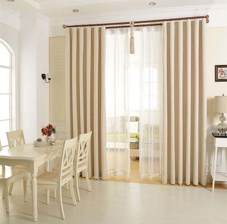 Aliexpress com Acheter Épaissir couleur unie linge rideau