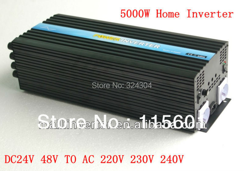 Factory Sell Solar Panel Inverter 5KW/5000W Home Solar System Inverter From Aliespress(China (Mainland))