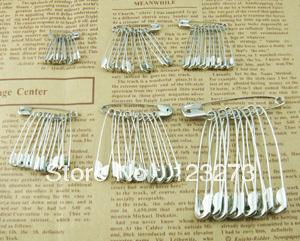 Handmade DIY tools pin safety pin  silver