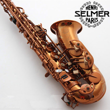 Salma 54 E flat alto saxophone musical instruments playing professionally brushed brown button - zengyixian store
