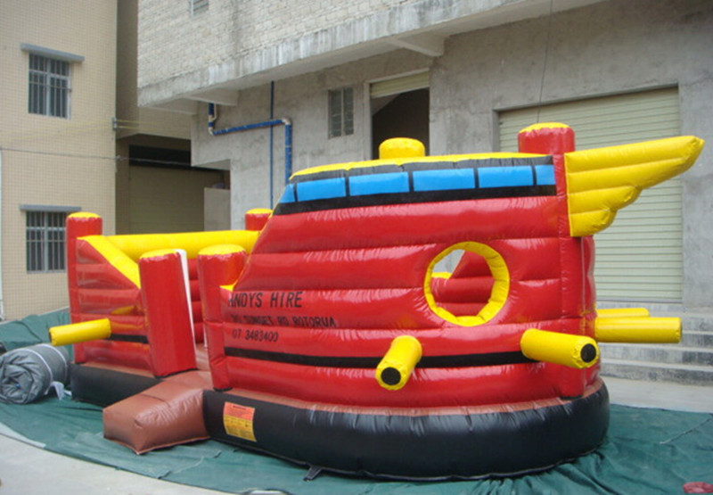 Pirate Ship PVC 0.55mm anime cartoon inflatable castle jump bed trampoline kids Indoor and outdoor toy 6m*3.5m/Piece(China (Mainland))
