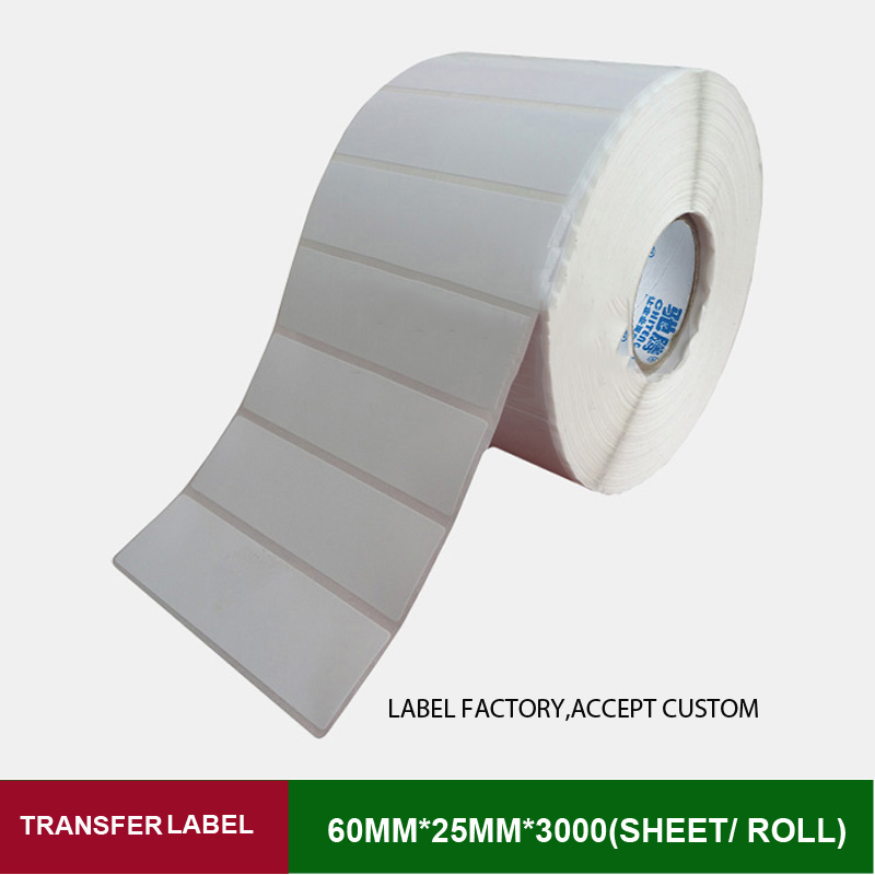 60*25mm 3000 sheets thermal transfer labels with high quality and provide custom printing logo for business barcode mark<br><br>Aliexpress