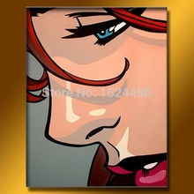 Hand-painted Modern Sex Picture Women Oil Painting On Canvas Wall Art Pictures For Living Room Hotel Hone Decoration 40x50cm(China (Mainland))