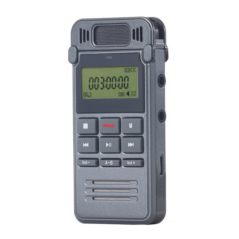 8GB Noise Reduction High-definition Digital Audio Voice Recorder Dictaphone Telephone Recording with LCD Display MP3 Player(China (Mainland))