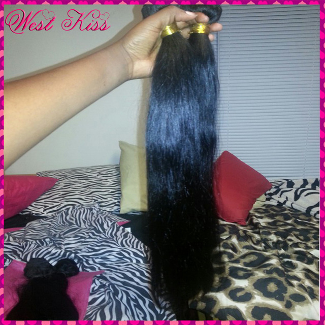 3 bundles 8A Unprocessed Filipino Natural Soft Straight Asian Human Virgin Hair Weaves Flawless Extension