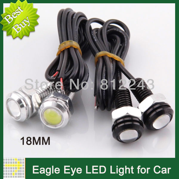 10pcs Eagle Eye DRL LED Lamp 18MM Daytime Running Lights Waterproof Parking Rear Light External Light Angel Eyes LED Car A3002(China (Mainland))