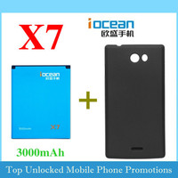 Original accessory 3000mah 2000mah iocean x7 battery accumulator / Desktop Charger / battery cover case / phone case Free ship