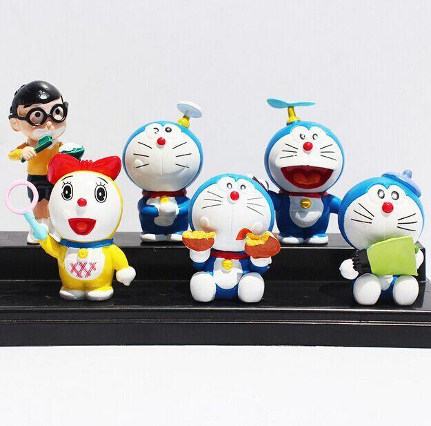 DHL 50sets Cartoon Anime Doraemon PVC Dolls Figure Model Toys 5cm Wholesale<br><br>Aliexpress