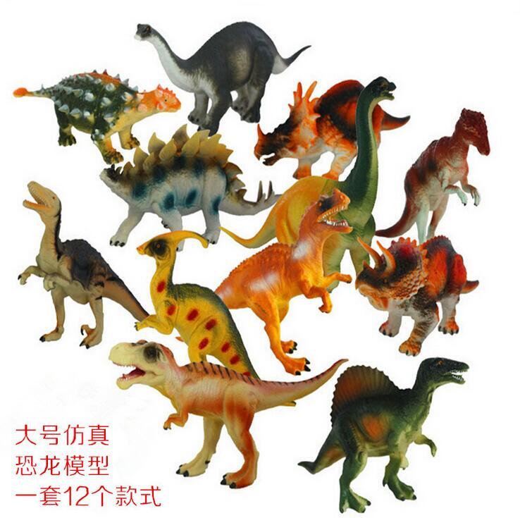 Random 1 pcs Prehistoric Good Rubber Simulation Jurassic Park Animals World Cartoon Dinosaur Models 1pcs Set , 15-18cm P619(China (Mainland))