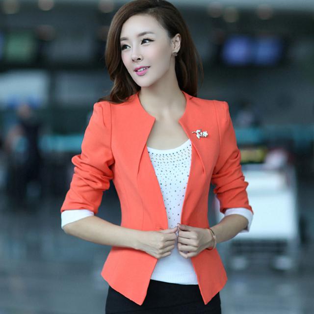 S-xxl новый женский пиджак пиджак 2015 весна осень пиджаки пр дамы Большой размер ...