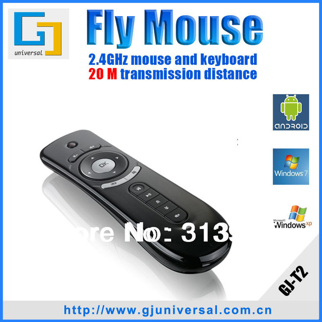 T2 air mouse Gyroscope 2.4Ghz Wireless Keyboard Mouse 3D Sense Motion Stick Gaming Laptops Desktops Accessories Fly air mouse