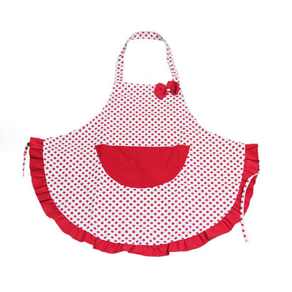 Cute Pocket Dots Pattern Restaurant Bib Apron Dress Cooking Apron Home Kitchen(China (Mainland))