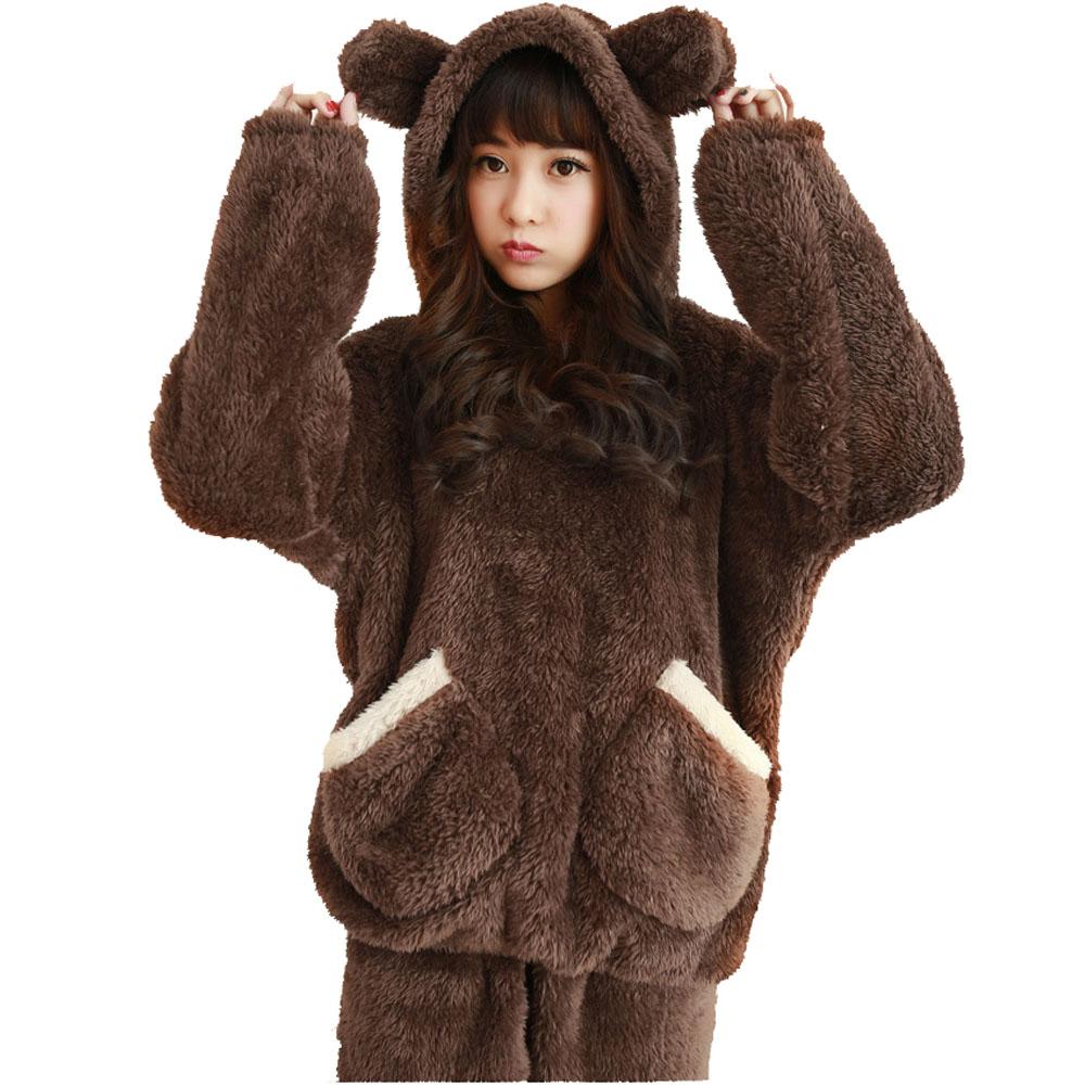 2014 Fashion Warm Winter Animal Pajama Sets Women's ...