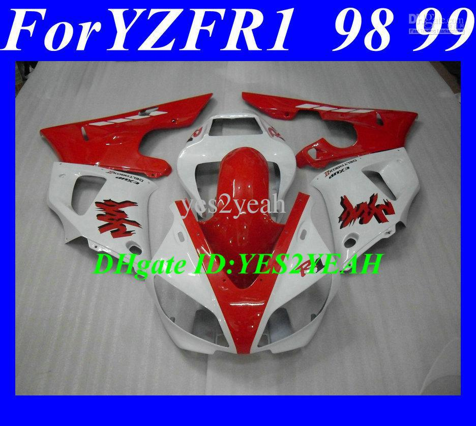 7 gifts!!! Motorcycle parts for 1998 1999 YAMAHA YZFR1 YZF R1 YZF-R1 YZR1000 R1 98 99 Hot red white Fairing kit+7gifts(China (Mainland))