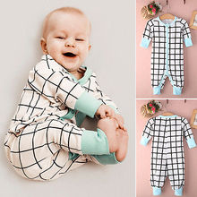Cotton baby rompers Newborn Baby Clothes Boy Toddler Infant Long Sleeve jumpsuits 0-24M