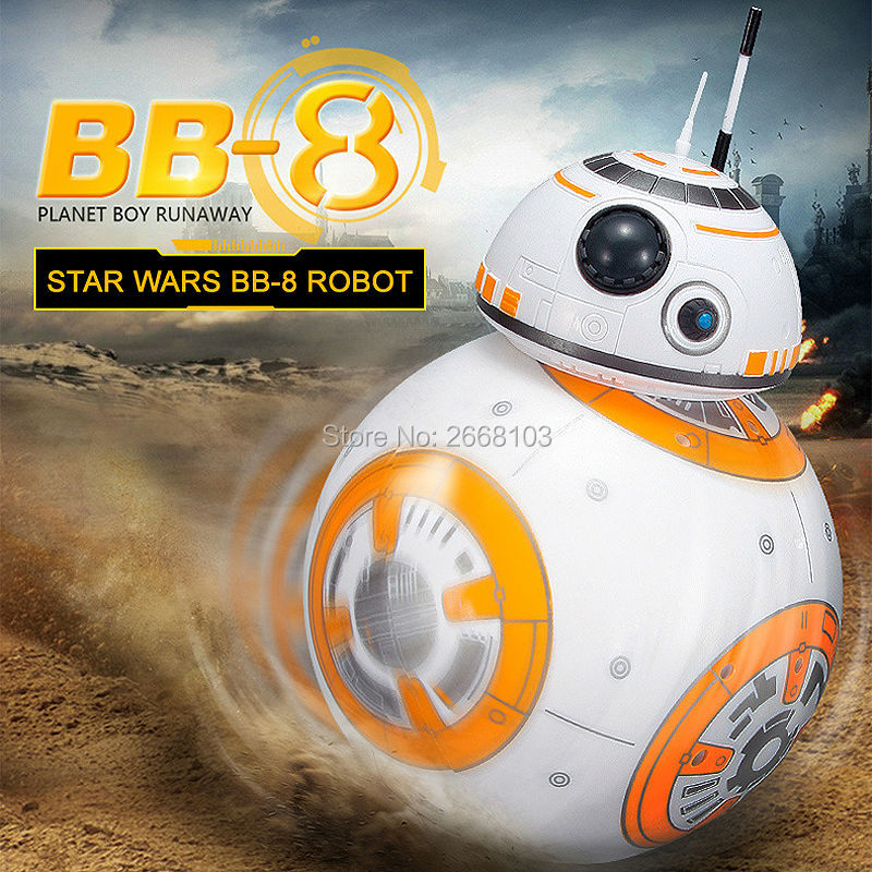MAYLEGO Upgrade BB-8 Ball Star Wars RC Droid Robot 2.4G Remote Control BB8 Intelligent With Sound Robot Toy For Kids Model Actio(China (Mainland))