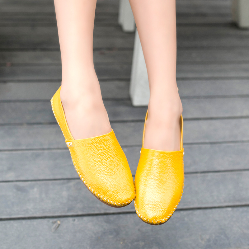 New Arrival Free Shipping Hot Selling Women's Leasuire Lazy Person Flat Doug shoes Comfortable Breathable Casual Leather Shoes(China (Mainland))