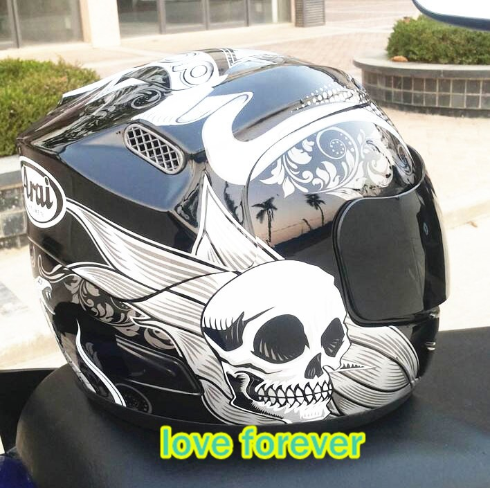 snake flower Motorcycle helmet full face arai run motorcycle helmets skull head remove lining keep  warm