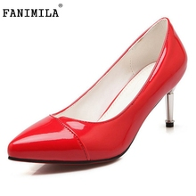 Women's High Heels Women Pumps Sexy Bride Party Thin Heel Pointed Toe Shoes Dress shoes footwear size 33-43 - Shop1267192 Store store