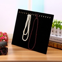 High Quality Durable Velvet Black Easel Necklace Jewelry Pendant Chain Show Display Holder Stand Neck Cardboard(China (Mainland))