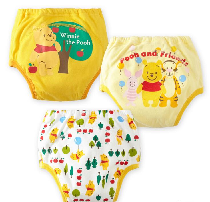 6pcs/lot Waterproof Infant Training Pants Briefs Cartoon Fashion Reusable Underpants Kid Baby Diapers(China (Mainland))