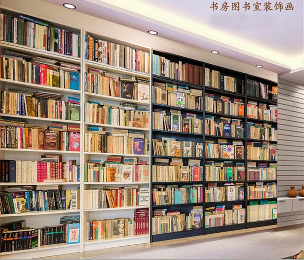 Online get cheap indoor plant pictures for Bookshelf wallpaper mural