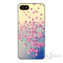 For iphone 4/4s 5/5s 5c SE 6/6s plus ipod touch 4/5/6 back skins mobile cellphone cases cover Pink Beautiful Flower Protective
