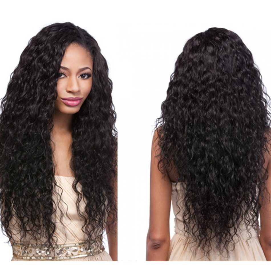 Brazilian Water Wave Human Hair Lace Front Wigs Wavy Glueless Full Lace Wigs 6A Full Lace Human ...