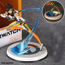OW Tracer Widowmaker Reaper WINSTON SOLDIER:76 Action Figure Model kids Toys Gifts Collection OW Tracer PVC 26CM game figure