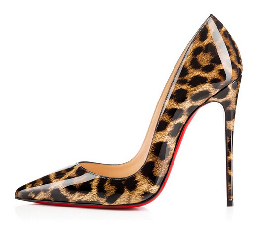 Women Pumps Red Bottom High Heels Fashion Pointed Toe Leopard Womens Shoes With Heels Red Bottoms Wedding Shoes Chaussure Femme(China (Mainland))