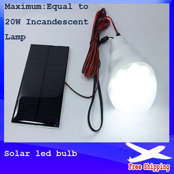 1pcs/lot 0.8W Solar panel 2W LED bulb LED Solar Lamp Solar Power LED Light Outdoor Solar Lamp Spotlight Garden Light(China (Mainland))