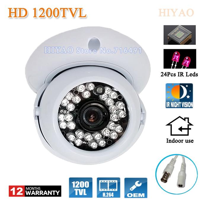 "Free shipping 2015 NEW 1/2.5"" SONY CMOS HD 1200TVL Indoor security camera 24 Pcs led IR Night Vision CCTV Cameras(China (Mainland))"