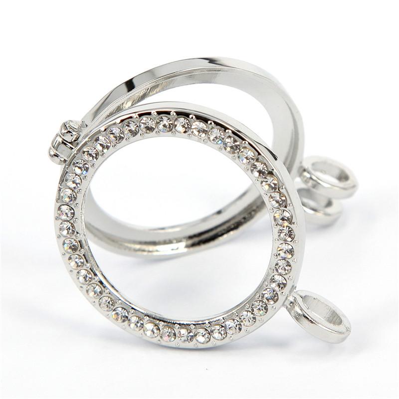 Hot Sale 33mm (10pcs) Silver Crystal Frame Pendants fit Mi Moneda Coin for Women Pendants &amp; Necklaces<br><br>Aliexpress