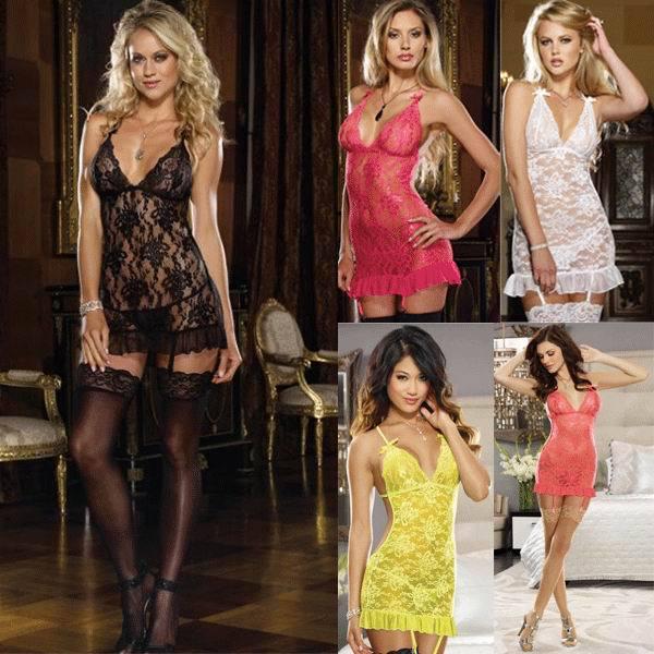 Free Shipping Sexy Lace Apron Babydoll PP4122 New fashion Hot Sale Exotic Sexy Babydoll(China (Mainland))