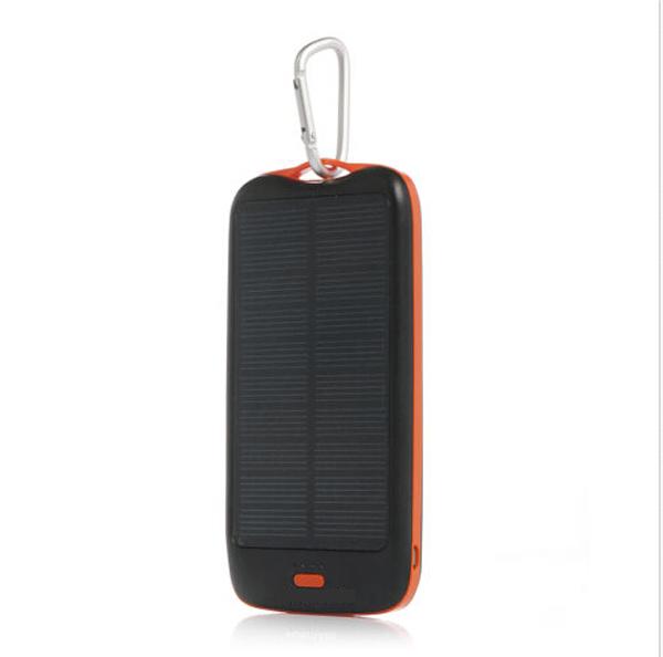 Solar Powerbank Mobile Charger USB Power Bank 10000 mAh Li Polymer Original External Battery Pack Slim Carregador de Bateria