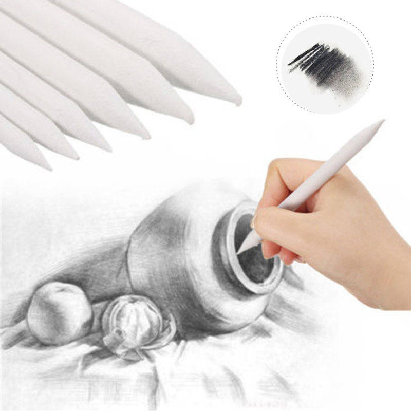 6pcs Blending Smudge Tortillon Stump Sketch 6 Sizes Art Drawing Tool Pastel DIY Art Drawing Supplies