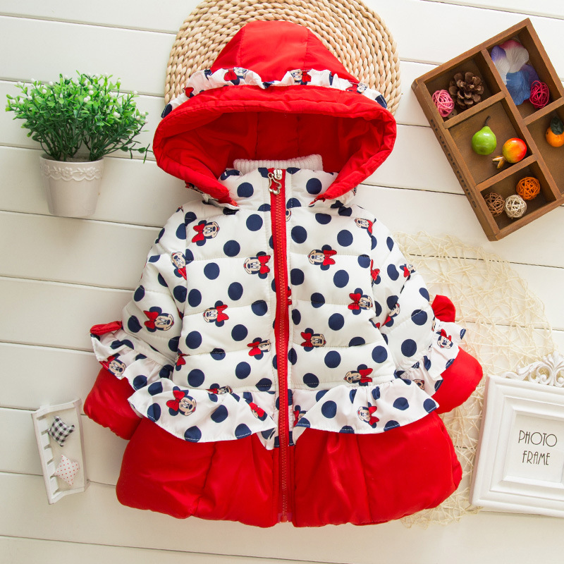 Baby toddler girls winter coat down jacket thick cotton 1-2-3-5 years<br><br>Aliexpress