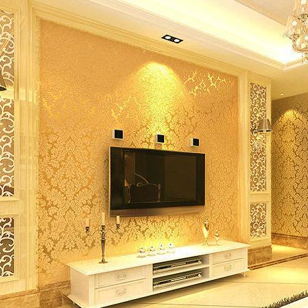 Moreco damasco padr o estilo europa papel de parede for Papel decomural vintage