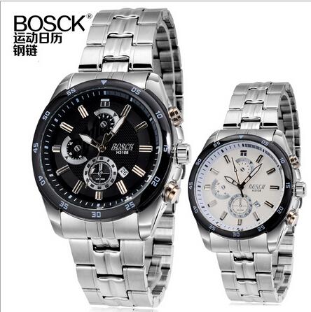 Men Geneva Quartz Waterproof Watch Luxury Brand Fashion&Casual Stell Strap Sport Analog Date Wristwatches Relogio Masculino(China (Mainland))