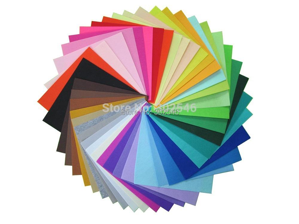 High Quality Mix Colors 100% Polyester Nonwoven Felt Fabric DIY Cloth For Flower&Animal Toy Felts40PCS/lot 30CM*30CM N-40(Hong Kong)