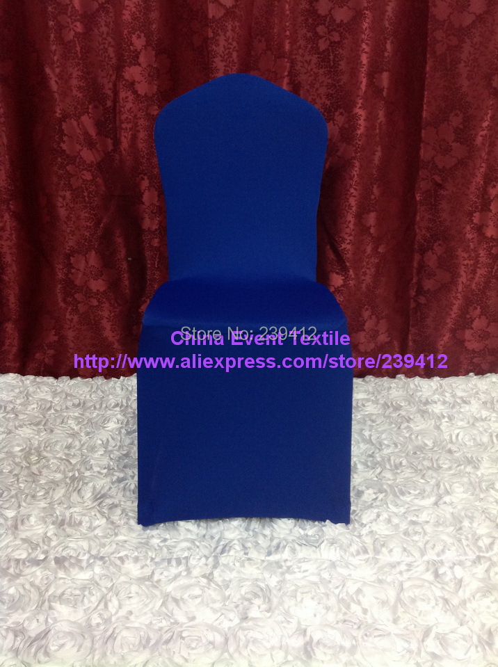 100pcs Extra Thicker #29 Royal Blue Flat Front Lycra Chair Cover,Spandex Chair Cover for Wedding Events&Banquet&Party Decoration(China (Mainland))