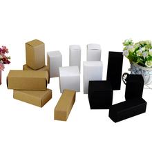 100pcs L*W*H: 2.8*2.8*9cm kraft Paper Box DIY Lipstick Perfume Essential Oil Bottle Packaging Boxes valve tube package(China (Mainland))