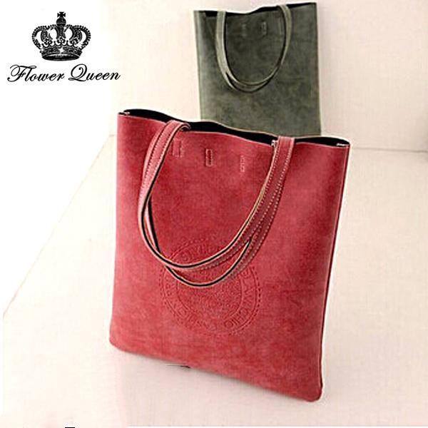 Women Tote Women's Shoulder bags New 2015 Arrival PU Matte Leather Lady's Scrub Handbag Messenger bag Shopping Crossbody Bags(China (Mainland))