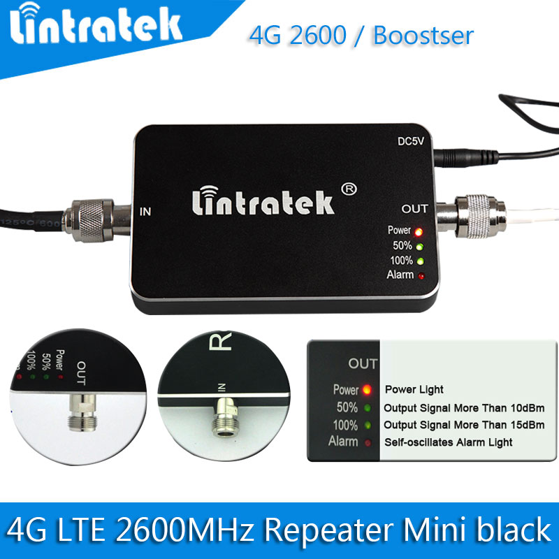 2016 new Upgrade 4G LTE 2600MHz Mini black Mobile Phone Signal Repeater,GSM Signal booster, 65dB Cellular Phone Signal amplifier(China (Mainland))