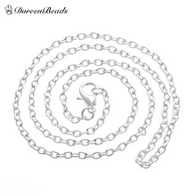 "Buy DoreenBeads silver color Lobster Clasp Cable Link Necklaces Fashion Chain Necklaces 18"" 12pcs, B12716 for $2.36 in AliExpress store"