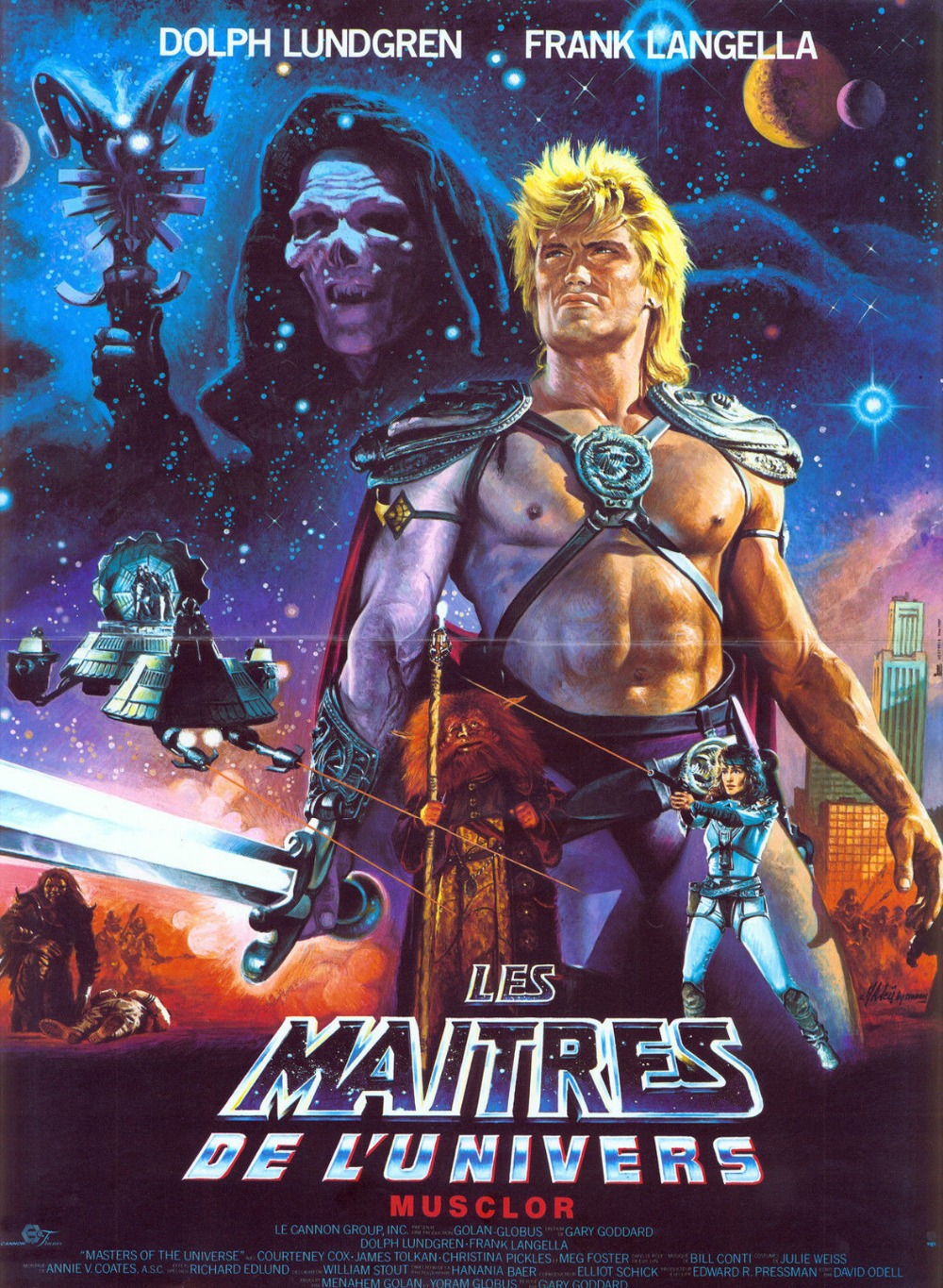 masters of the universe movie poster 1987 he man dolph