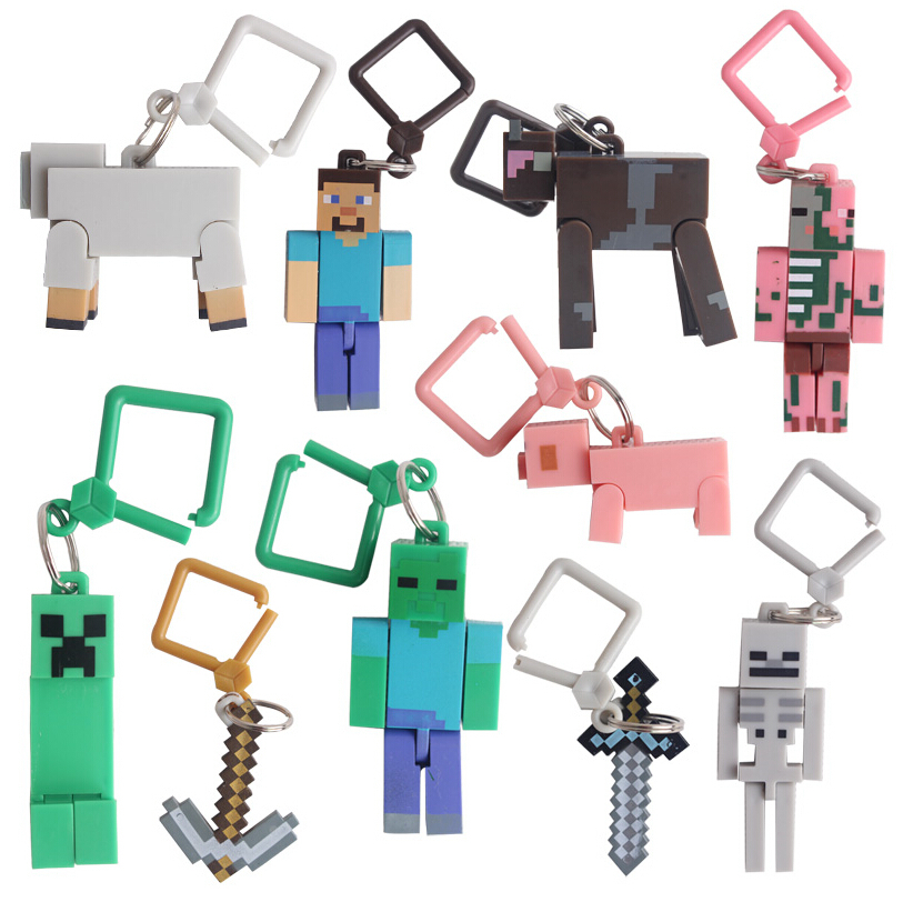10pcs The first generation juguetes PVC Minecraft Toys Micro World action figure set keychain best kids toys for boys brinquedos(China (Mainland))