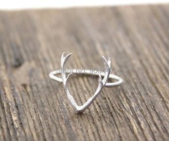 1 PCS-R136 горячая распродажа простой рога оленя кольцо, Олень кольцо, Олень хорн ...