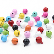 10Pcs Colorful Iron Loose metal Beads Jingle Bells Christmas Decoration Pendants DIY Crafts Handmade Accessories Size 13*13mm(China (Mainland))