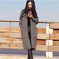 Fashion Women Long Cardigans 2016 Autumn Winter Thicken Jacket Coat Warm Outwear Knitted Oversized Sweaters Cardigan